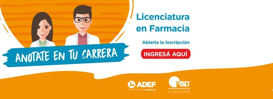 ILicenciatura en farmacia: abierta la inscripción